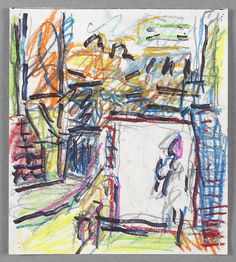 Frank Auerbach, Next Door VI, 2011-12 oil on pastel and other media on paper 23.05 x 20.9 cm (© Frank Auerbach, courtesy of Marlborough Gallery, London)