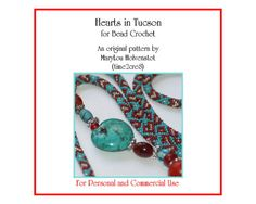 Bead Crochet Pattern ... HEARTS in TUCSON ... by time2cre8 on Etsy, $10.00