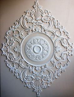 Custom X Ceiling Medallion by Renaissance Ornamental Gypsum Ceiling Design, Pop Ceiling Design, Pop Design, Ceiling Rose, Ceiling Decor, Wall Decor, Nursery Decor, Plafond Design, Classic Ceiling