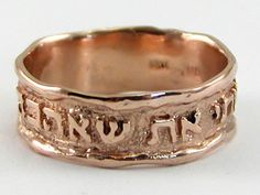 I Have Found the One My Soul Loves Rose Gold Ring. $650. http://www.jewishgiftplace.com/I-Have-Found-the-One-My-Soul-Loves-Rose-Gold-Ring.html
