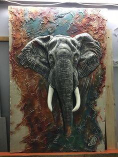 Clay Wall Art, Clay Art, Lord Ganesha Paintings, Plaster Art, Hand Sculpture, Mosaic Artwork, City Painting, Elephant Art, Angel Art