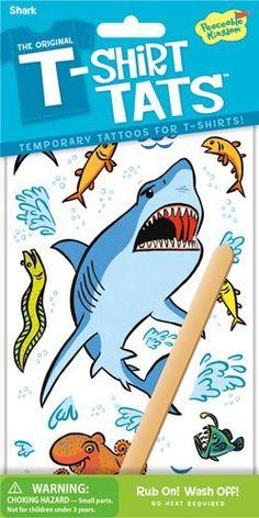 PEACEABLE KINGDOM T-Shirt Tattoo Textil Tattoo Hai - lohnende Bonuspunkte sammeln, auf Rechnung bestellen, DHL Blitzlieferung!