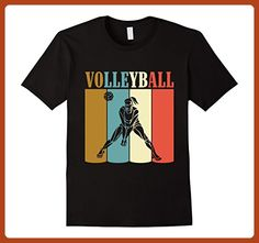 Mens Vintage Retro Style  Volleyball T-Shirt Volleyball Shirt Small Black - Retro shirts (*Partner-Link)