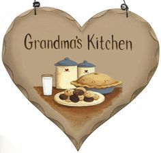 Wood Retro Rustic Vintage Country GRANDMA'S KiTCHeN Sign Primitive Heart  #Unbranded #Country