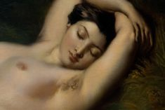 """1850, Théodore Chassériau (1819 - 1856) """"Baigneuse endormie"""" dét."""