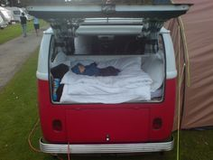 Tamsin@Nuby UK's baby boy having a snooze in their 1967 VW camper.
