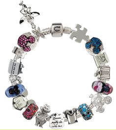 Disney Chamilia bracelet. Although I love Pandora, I would love to have this ladies bracelet with the Disney charms!