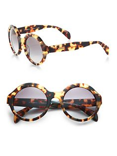 Prada Plastic Round Sunglasses - Havanas   You are mine in less than a month!