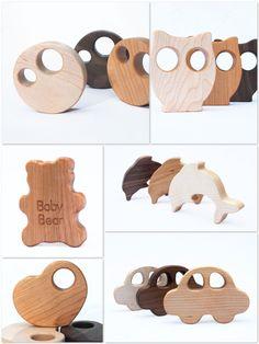Manzanita Kids wooden rattles