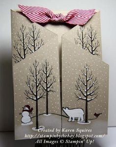 White Christmas Standup Card