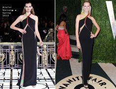 Karolína Kurkova In Atelier Versace - 2013 Vanity Fair Party