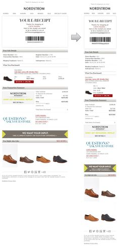 20 best order confirmation inspiration images on pinterest email an email order confirmation from an in store purchase at nordstrom this example hits maxwellsz
