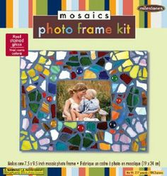 Midwest Products Mosaic Photo Frame Kit by Midwest Products. $14.99. Surround your photos with a design all your own. Finished frame makes a great personal gift. kit contains a 7-1/2-Inch by 9-1/2-Inch photo frame base with easel back, mosaic stained glass, 2-Ounces of glass gems, 8-Ounces tile grout, 2 plastic gloves, 2-Ounces of glue, 1 wooden stir stick and instructions. This easy-to-make mosaic frame kit fits your 5-Inch by 7-Inch photos and looks great anywhere in th...