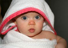 simple hooded bath towels