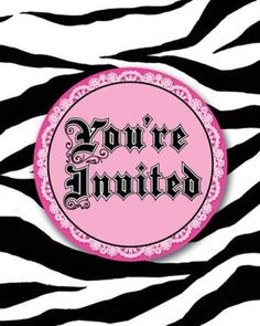 Sweet 16 Pink Zebra Party Invitation W/Pink Envelopes (48ct) (895015)