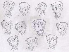 Facial Expressions - Child / Boy / Cartoon