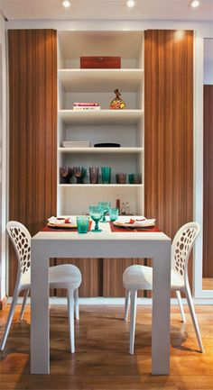 The table unfolded! Decor, Small House Living, Interior, Small Apartments, Home Decor, House Interior, Interior Design, Home And Living, Residential Interior
