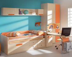 Image result for light blue and orange bedroom