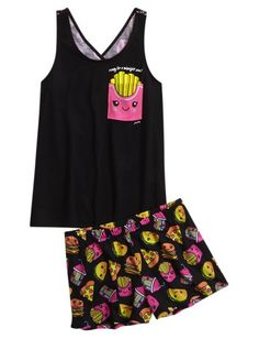 French Fries Pajama Set (Original Price, USD) available at Cute Pajama Sets, Cute Pjs, Cute Pajamas, Girls Pajamas, Fashion Mode, Tween Fashion, Girl Fashion, Fashion Outfits, Cute Sleepwear