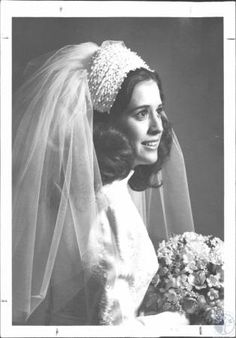 Mrs. Larry Jay Wolfe, Wedding photo; #kentonlibrary #facesandplaces