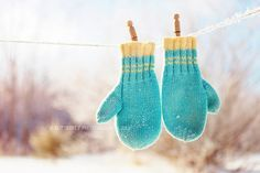 What A Wonderful Winter Orange And Purple, Teal, Pink, Turquoise Color, Yellow, Mitten Gloves, Mittens, Winter's Tale, Winter Colors