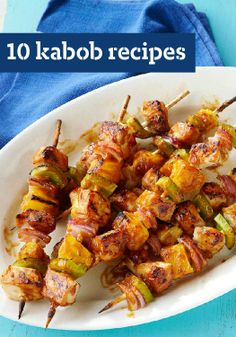 10 Kabob Recipes — As anyone who has ever been to a state fair can tell you, just about everything tastes great on a stick. Kabob recipes are popular year-round, but especially so in summer.