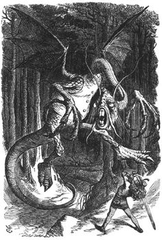 "Illustration to the Lewis Carroll poem ""Jabberwocky"" by John Tenniel"