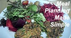 Typical lunch - Courgette Fritters with Cultured Vegetables, Roasted Kombusha Beetroot and lots of green salad Beetroot, Menu Planning, Fritters, Make It Simple, Cabbage, Tasty, Herbs, Nutrition, Lunch