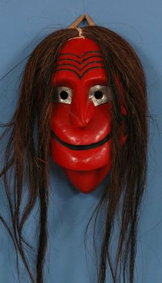"false face masks | 497: Iroquois False Face Society Mask 11"" H. 6 3/4"" W. : Lot 497"