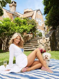 """Inside Christie Brinkley's Romantic """"Tower Hill"""" in the Hamptons"""
