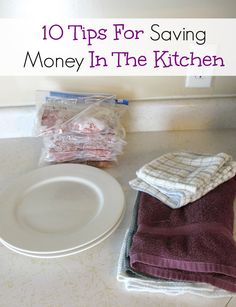 Tips for saving money in the kitchen. Little changes can add up to big savings!