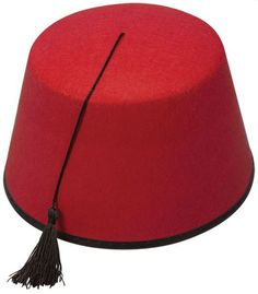 485609b4 Fez Hat Red Moroccan Turkish Hat Tommy Cooper Costume Fancy Dress Up