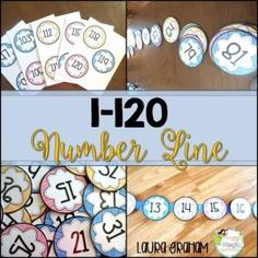This is a printable number line with numbers from 1-120. This color coded number line is perfect for Kindergarten, first grade, or second grade classroom and wall decor. This number line is the perfect display for countless of interactive math activities that develop number sense in the primary grades. Super easy to assemble too! by lorene
