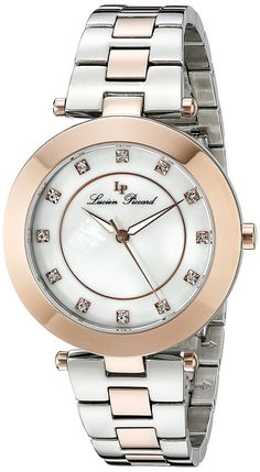 c646e44df9a Lucien Piccard Women s LP-16309-SR-22 Odessa Analog Display Quartz Two Tone  Watch