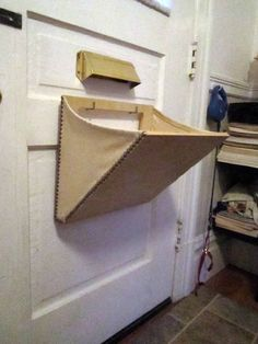 Mail Slot Catcher pouch basket box thingeemabob by PaulFresina #diy #mail #vacation