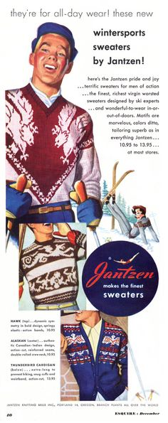 Jantzen sweaters advertisement
