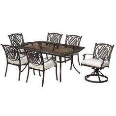 Belcourt 7 Piece Dining Set With Custom Cushions
