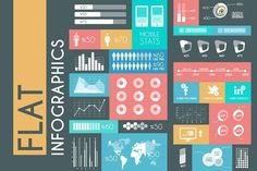 Flat Infographics. Business Infographic. $8.00