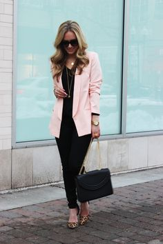 120cfe84282a 15 Best Pink Blazer Outfits images | Work wear, Feminine fashion ...
