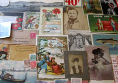Antique Group of Great Ephemera Items - Postcards, Photos and More