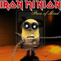 Heavy Metal Funny, Iron Maiden Mascot, Iron Maiden Posters, Iron Maiden Albums, Minion Mayhem, British Lions, Cute Minions, Image Fun, Rockn Roll