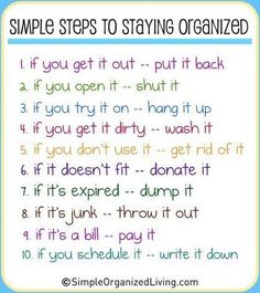10 steps to staying organized