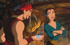 "Sinbad and Marina from ""Sinbad: Legend of the Seven Seas""."