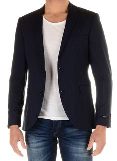 0d9433c34422c8 Jack - Jones Premium JJPRROY BLAZER STRIPED Colberts kiv01 dark navy  Description  Jack - Jones