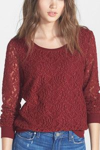 Lacy pullover is a versatile piece, easy to dress up or down. | Keaton Row