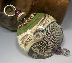 HANDMADE LAMPWORK Glass PENDANT Focal  Bead by DonnaMillard, $40.00