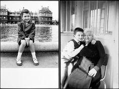 * à  g Jean Paul Gaultier au Jardin du Luxembourg (Paris) vers 1957 à d Jean Paul Gaultier avec sa grand mère maternelle Marie vers 1958