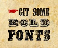 Create your own fonts.
