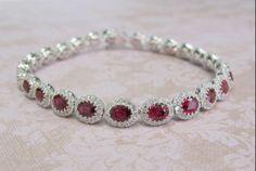 Ruby and Diamonds Bracelet