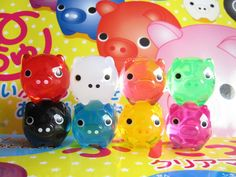 Cute Butachu Mini Piggy Acrylic Mascot Toy Takochu's Friend by Kawaii Japan, via Flickr